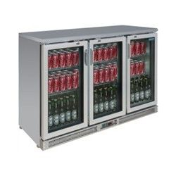 Réfrigérateur de bar inox Polar 3 portes battantes