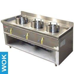 Fourneau wok 3 brûleurs