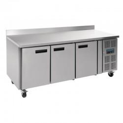 Table réfrigérée négative 3 portes avec dosseret 417L Polar