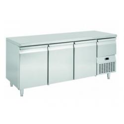 Table réfrigérée ventilée pour boulangerie 3 portes