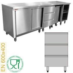 Module pâtisserie bloc 3 tiroirs 600x400