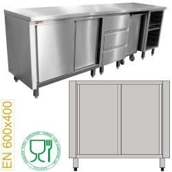 Module pâtisserie armoire 2 portes coulissantes