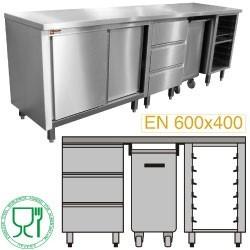 Module pâtisserie 1500 composé MCP-3T/05 + MCP-TR/05 + MCP-SG/05 + MCP-TOP/15
