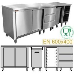 Module pâtisserie 2500 composé MCP-AP/10 + MCP-TR/05 + MCP-SG/05 + MCP-3T/05 + MCP-TOP/25