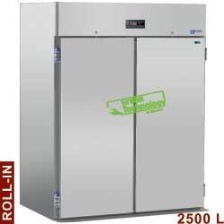 Armoire frigorifique 2500 litres ventilé, pour 2 chariots GN 2/1, 2 portes