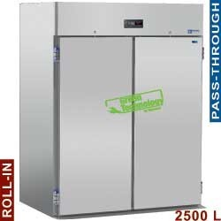 Armoire frigorifique 2500 litres ventilé, pour 2 chariots GN 2/1, 2+2 portes (passante)