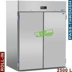 Armoire frigorifique 2500 litres ventilé, pour 2 chariots GN 2/1, 2+2 portes (passante) et (sans groupe)