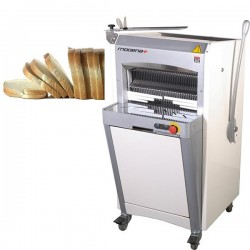 Trancheuse à pain semi-automatique sur roulettes