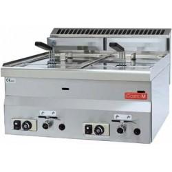 Friteuse à gaz 600 - 2 x 8L.