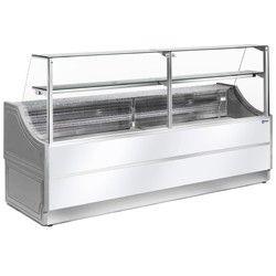 Comptoir vitrine réfrigérée à vitre droite 90°, sans réserve
