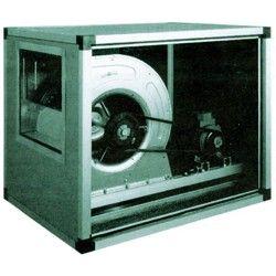 Ventilateur centrifuge avec caisson isolé, transmission à courroie