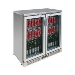 CE206 Réfrigérateur de bar inox Polar 2 portes battantes