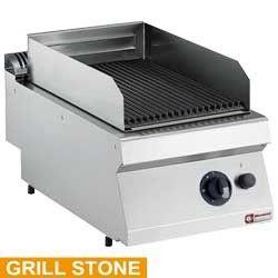 Grill pierre de lave gaz, grille en fonte 1/2 mod -TOP-
