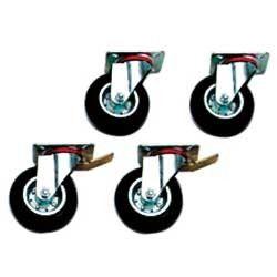 Kit de 4 roues (2 avec freins)