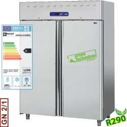 Armoire frigorifique 1400 litres ventilée, 2 portes GN 2/1