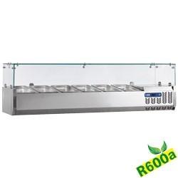 Structure réfrigérée 3x GN 1/3 + 1x GN 1/2 - 150 mm, avec vitre