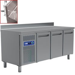 Table frigorifique, ventilé, 3 portes GN 1/1 (405 Lit.)