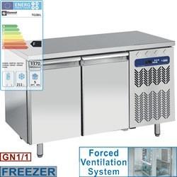 Table de congélation, ventilée, 2 portes GN 1/1, 260 litres