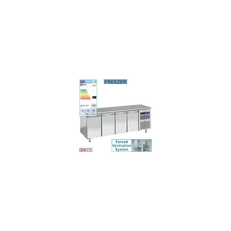 Table de congélation, ventilée, 4 portes GN 1/1, 550 litres