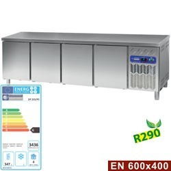 Table frigorifique, ventilé, 4 portes EN 600x400 (760 L)