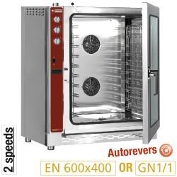 Four à convection gaz, 10x EN (GN), humidificateur automatique