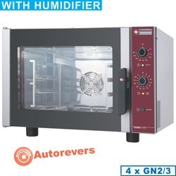 Four électrique à convection, 4x GN 2/3 + humidificateur manuel