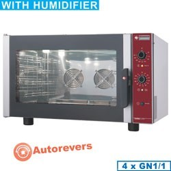 Four électrique à convection, 4x GN 1/1 + humidificateur manuel