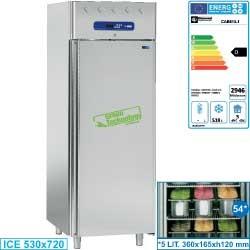 """Armoire conservation """"ice-cream"""" 700 litres ventilée, 54 bacs (5 litres)"""