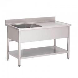 Table Entrée Lave Vaisselle avec bac simple à gauche