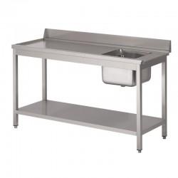 Table Entrée Lave Vaisselle avec bac simple à droite