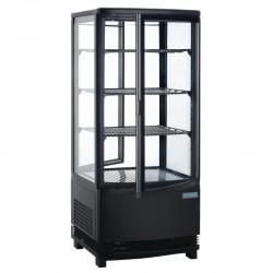 Vitrine Réfrigérée Noire portes incurvées - 86 L