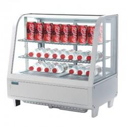 Vitrine Réfrigérée Boissons à Poser - 100 litres Blanche