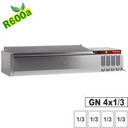 Structure réfrigérée 4 x GN1/3-150mm, avec couvercle inox