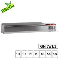Structure réfrigérée 7 x GN1/3-150 mm, avec couvercle inox
