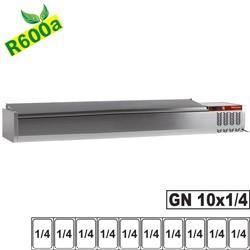 Structure réfrigérée 10x GN 1/4 - 150 mm, avec couvercle inox