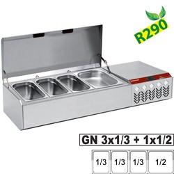 Structure réfrigérée GN 3x1/3, 1x1/2, avec couvercle