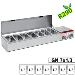 Structure réfrigérée GN 7x1/3, avec couvercle