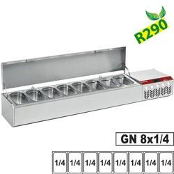 Structure réfrigérée GN 8x 1/4, avec couvercle
