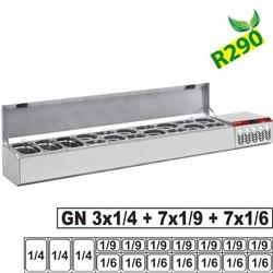 Structure réfrigérée GN 3x 1/4, 7x 1/6, 7x 1/9, avec couvercle