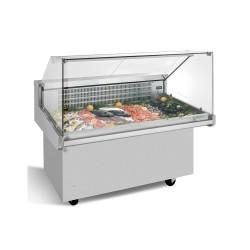 Vitrine réfrigérée pour poisson sur roulettes serie VRP