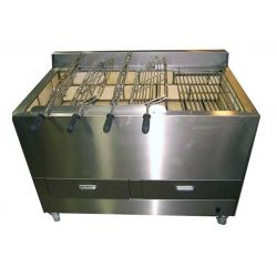 Barbecue portugais 4 grilles rotatives / 1 fixe