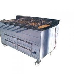 Barbecue portugais 5 grilles rotatives