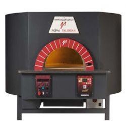 Four à pizza rotatif mixte bois /gaz 1000 mm