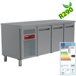 Table frigorifique, ventilée, 3 portes GN 1/1(405 Lit.)
