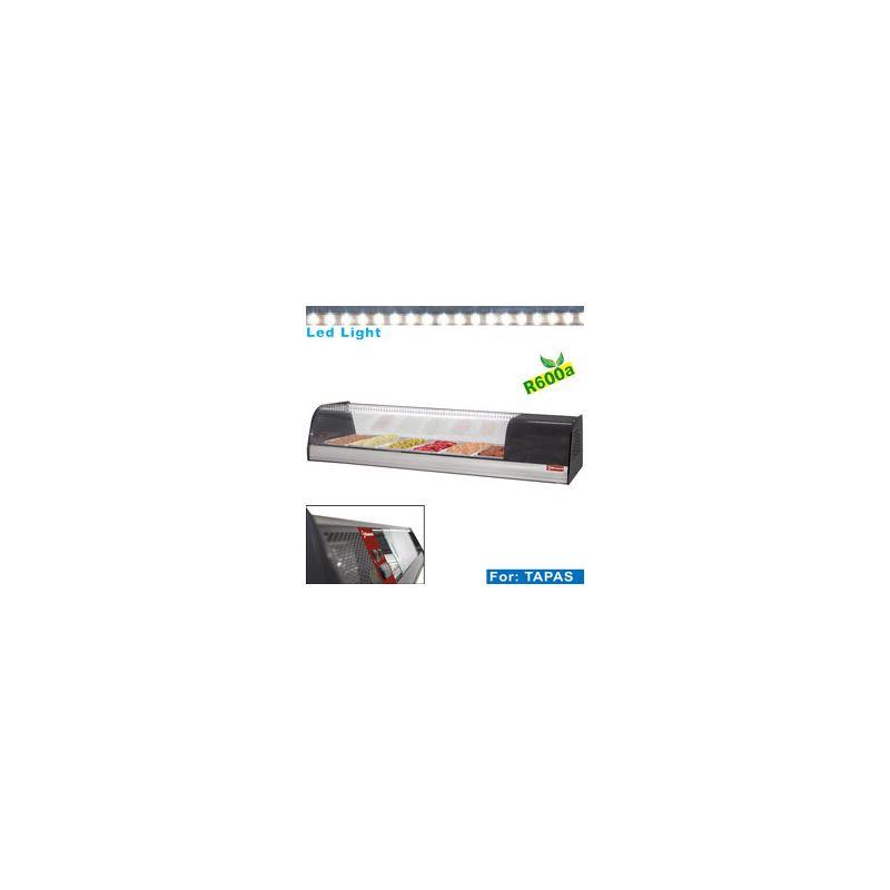 Vitrine à tapas réfrigérée, 6x GN 1/3 - 40 mm (inclus)
