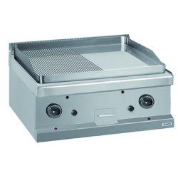 Plaque de cuisson 1/2 lisse 1/2 rainurée chrome gaz - sur table