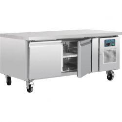 Table réfrigérée en acier inoxydable Polar - DA462 - 2 portes Polaire