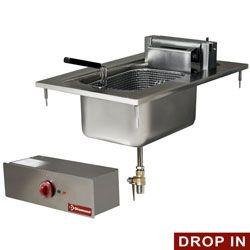 Friteuse électrique 1 cuve 10 litres, à encastrer