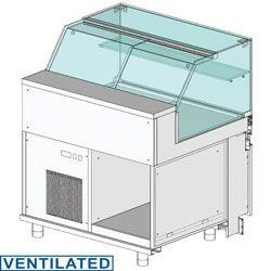 Comptoir vitrine réfrigéré EN & GN