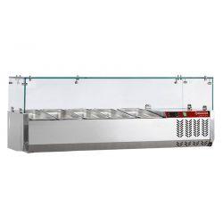 Structure réfrigérée 5x GN 1/4 - 150 mm, avec vitre